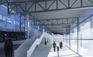 La collina dei cappuccini e il centro polifunzionale della città di Melfi